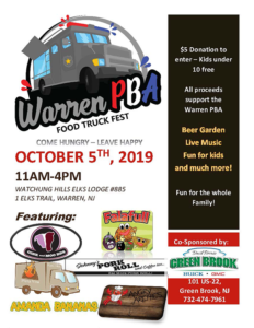 Warren PBA Food Truck Fest @ Watchung Hills Elks Lodge #885
