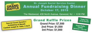 St. Joseph Social Center Annual Fundraising Raffle Dinner @ The Westwood