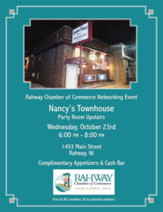 Rahway Chamber of Commerce Networking Event @ Nancy's Townhouse