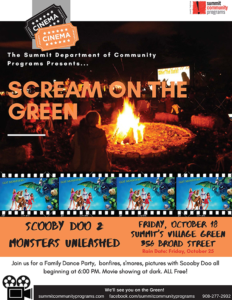 Summit Scream on the Green Movie Night @ Village Green