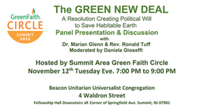 Summit Green New Deal Panel Presentation @ Beacon Unitarian Universalist Fellowship Hall