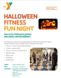 Halloween Fitness Fun Night at the YMCA @ YMCA Wellness Center Branch