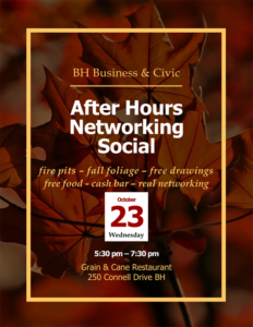 Berkeley Heights Business and Civic: After hours Networking Social @ Grain and Cane Restaurant