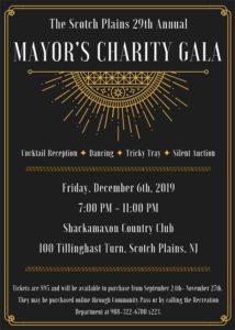 Scotch Plains Mayor's Charity Gala @ Shackamaxon Country Club