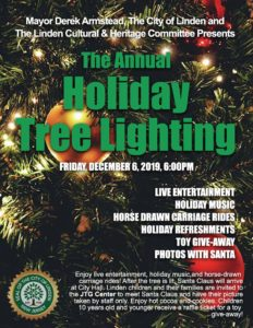 Linden Annual Holiday Tree Lighting @ In front of City Hall