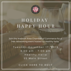 Madison Chamber of Commerce Holiday Happy Hour @ Healthy Italia