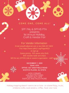 Scotch Plains-Fanwood Holiday Craft & Vendor Fair
