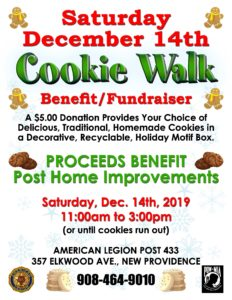 New Providence Cookie Walk & Benefit Concert @ New Providence American Legion
