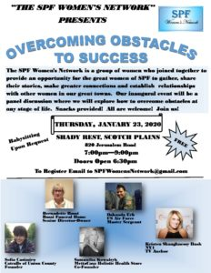 "Scotch Plains-Fanwood Women's Network: ""Overcoming Obstacles to Success"" @ Shady Rest"
