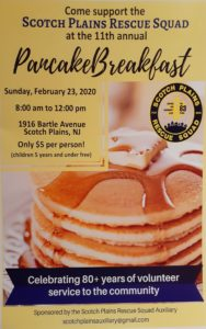 Scotch Plains Rescue Squad Pancake Breakfast
