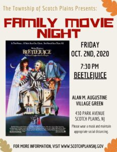 Scotch Plains Weekend - Family Movie Night @ Alan M. Augustine Village Green