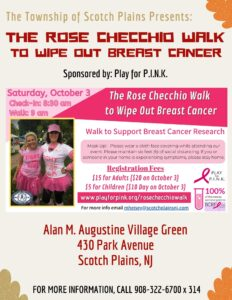 Scotch Plains Weekend - The Rose Checchio Walk @ Alan M. Augustine Village Green