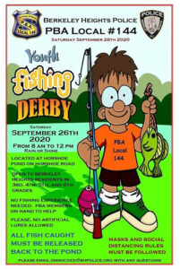 Berkeley Heights PBA Local #144 hosts Youth Fishing Derby @ Horshoe Pond