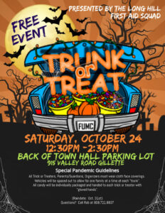 Long Hill Township Trunk or Treat Event @ Town Hall Parking Lot