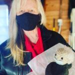 Ann McGovern wit Bernie Crochet doll