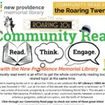 New Providence Library 1920s Community Read flyer